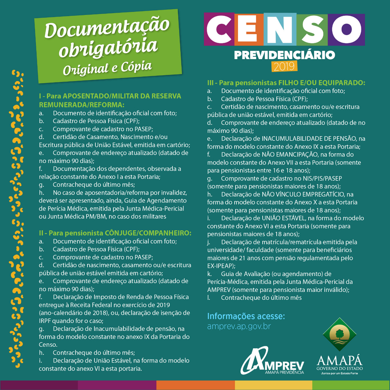 Documentos para o Censo 2019